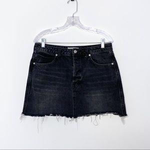 WE THE FREE Distressed Denim Mini Skirt, Sz 31